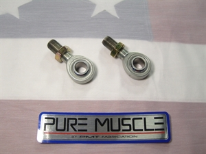 These are top of the line FK Rod Ends JMX-12-F2 chrome moly teflon lined spherical rod end. They don't come any better than these! These units are specified to be a standard duty preload for steering linkage or other lighter duty applications. We offer the same rod end with much greater radial preload for heavier applications where strength is needed as well as well as longevity for trailing arm applications. Same part # with an F2 at the end instead of F1. We also offer many different bushings to step these down(bolt size) and adjust the widths here in our store. Please call for an international shipping quote. One rod end included for this price. For bulk purchases(10 or more), please contact us for special dealer pricing.